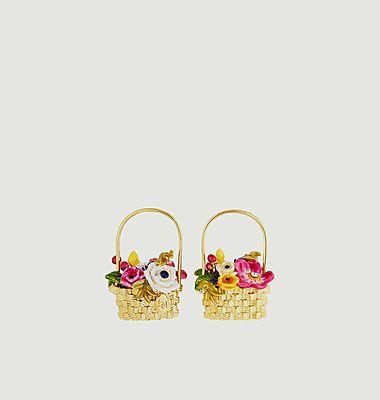 Boucles d'oreilles panier Petit Jardin