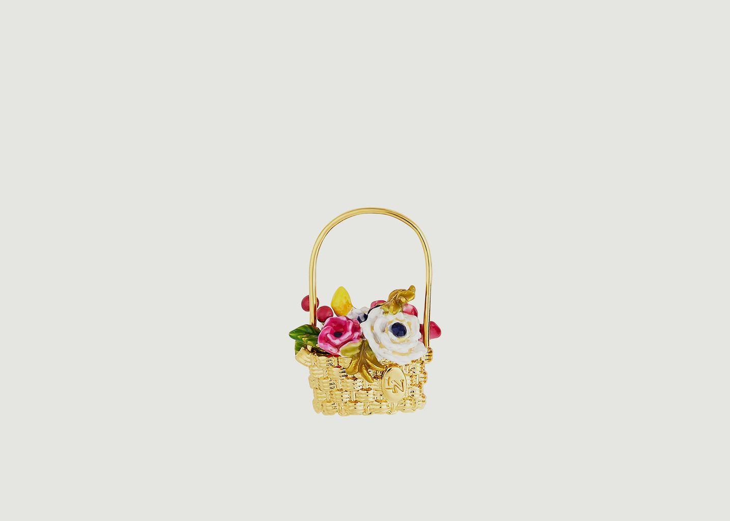 Boucles d'oreilles panier Petit Jardin - Les Néréides