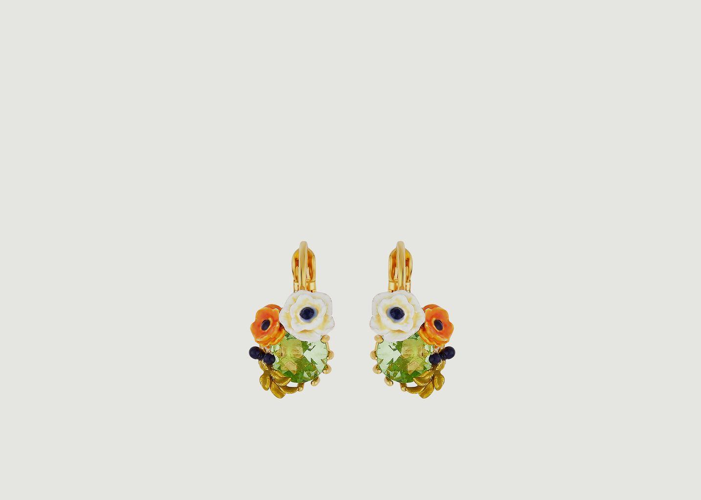 Boucles d'oreilles dormeuses Petit Jardin - Les Néréides