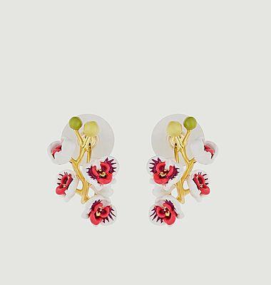 Boucles d'oreilles Orchidée Papillon
