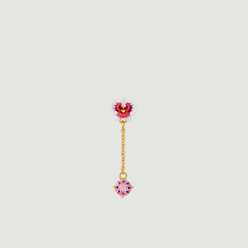Boucles d'oreilles pendantes Orchidée Papillon - Les Néréides