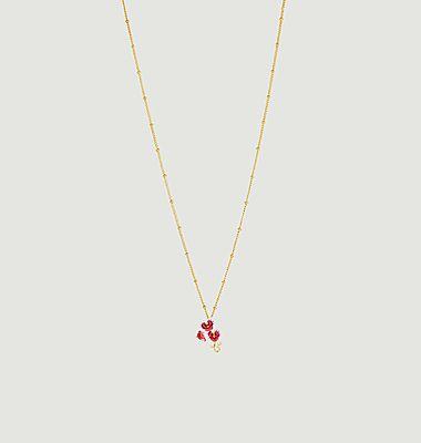 Collier pendentif Orchidée Papillon