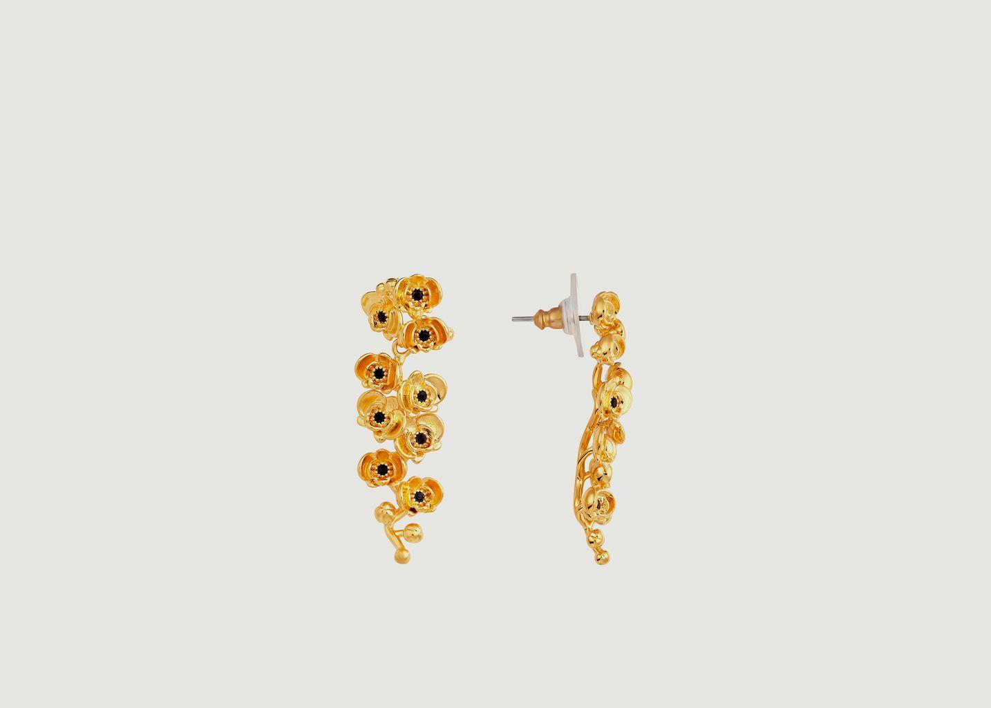 Boucles d'oreilles pendantes Les Flamboyantes - Les Néréides