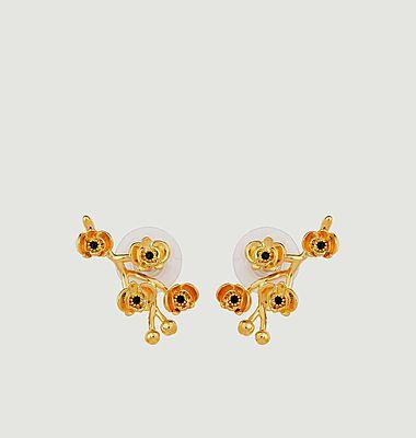 Boucles d'oreilles tiges Les Flamboyantes