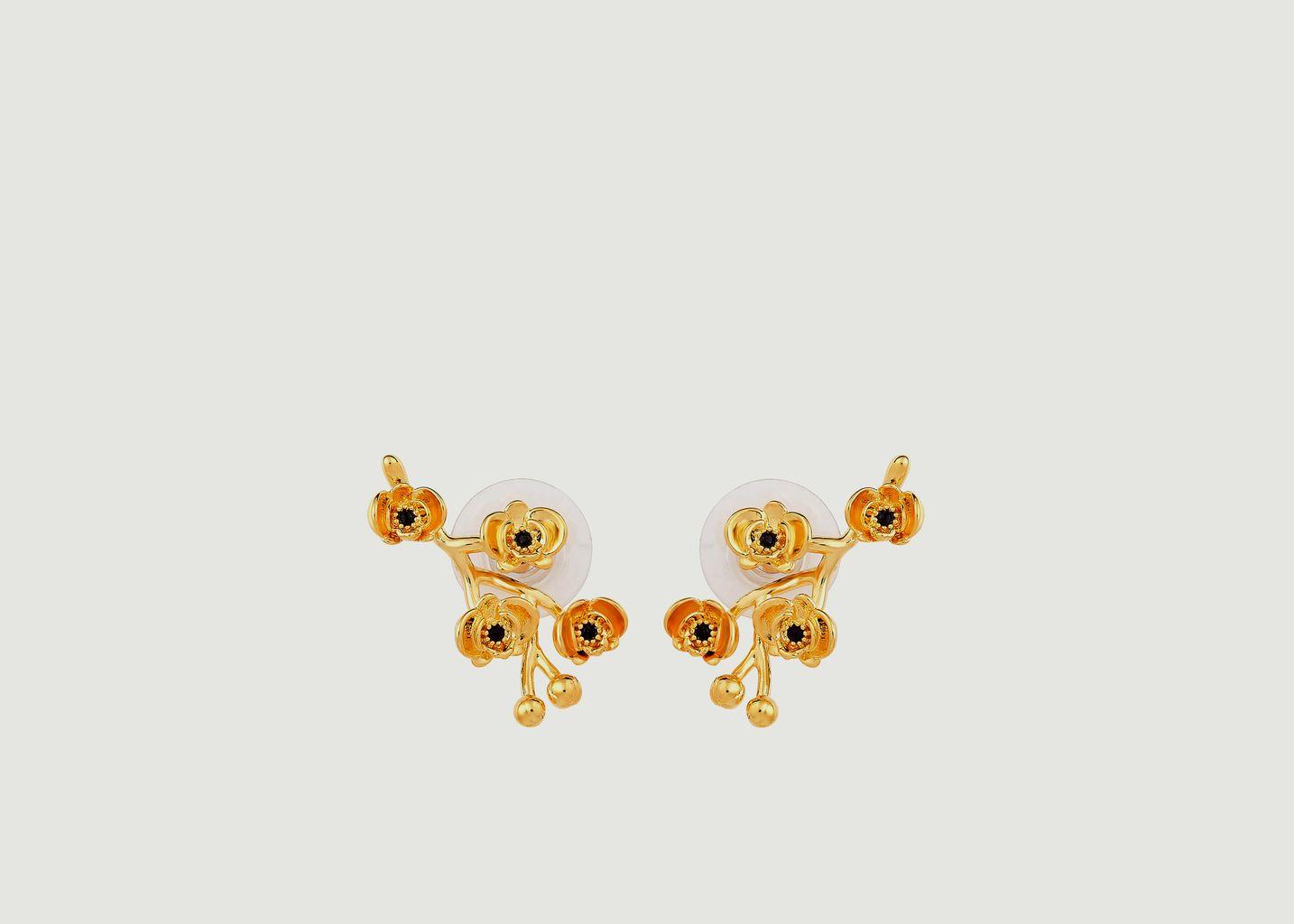 Boucles d'oreilles tiges Les Flamboyantes - Les Néréides