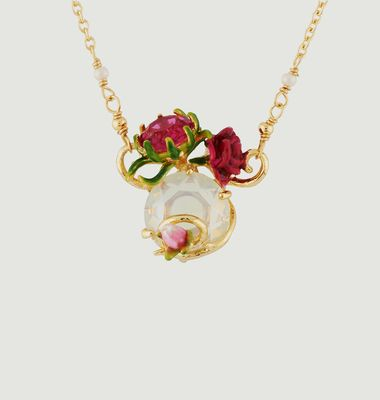 Collier Rose Bouton