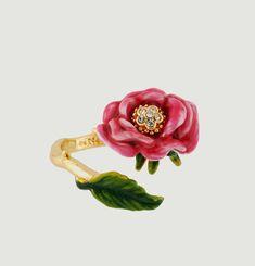 Bague Ajustable Fleur Rose