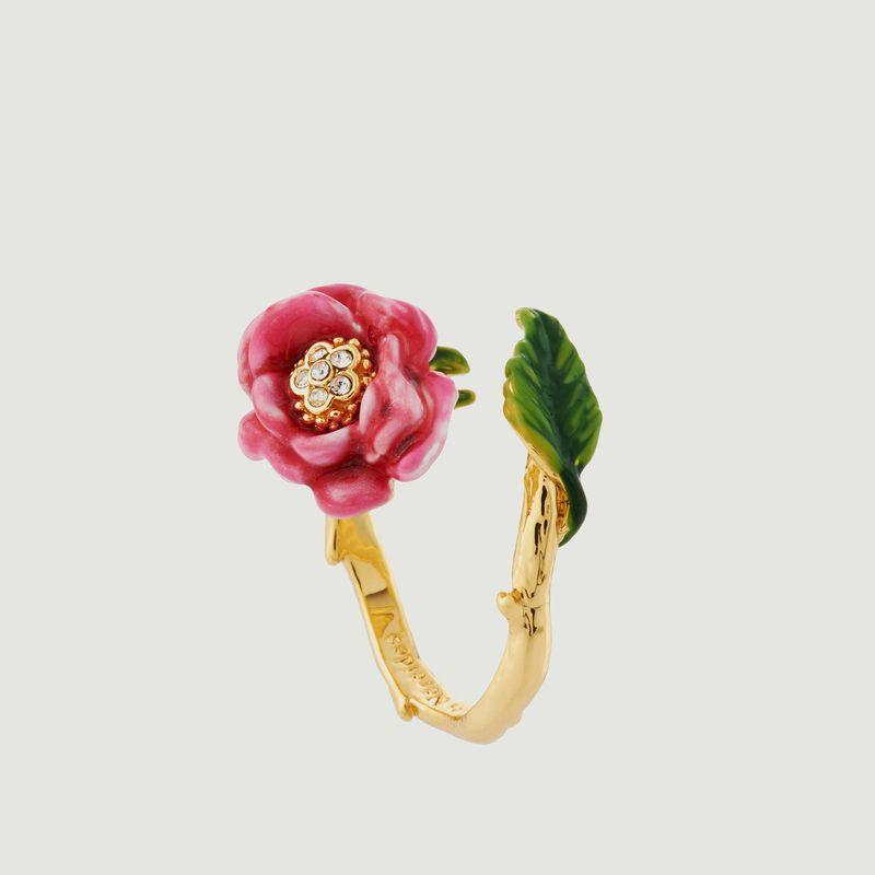 Bague Ajustable Fleur Rose - Les Néréides