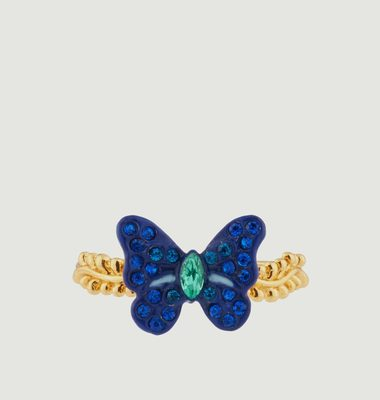 Bague Petit Papillon Avec Pierres Colorées
