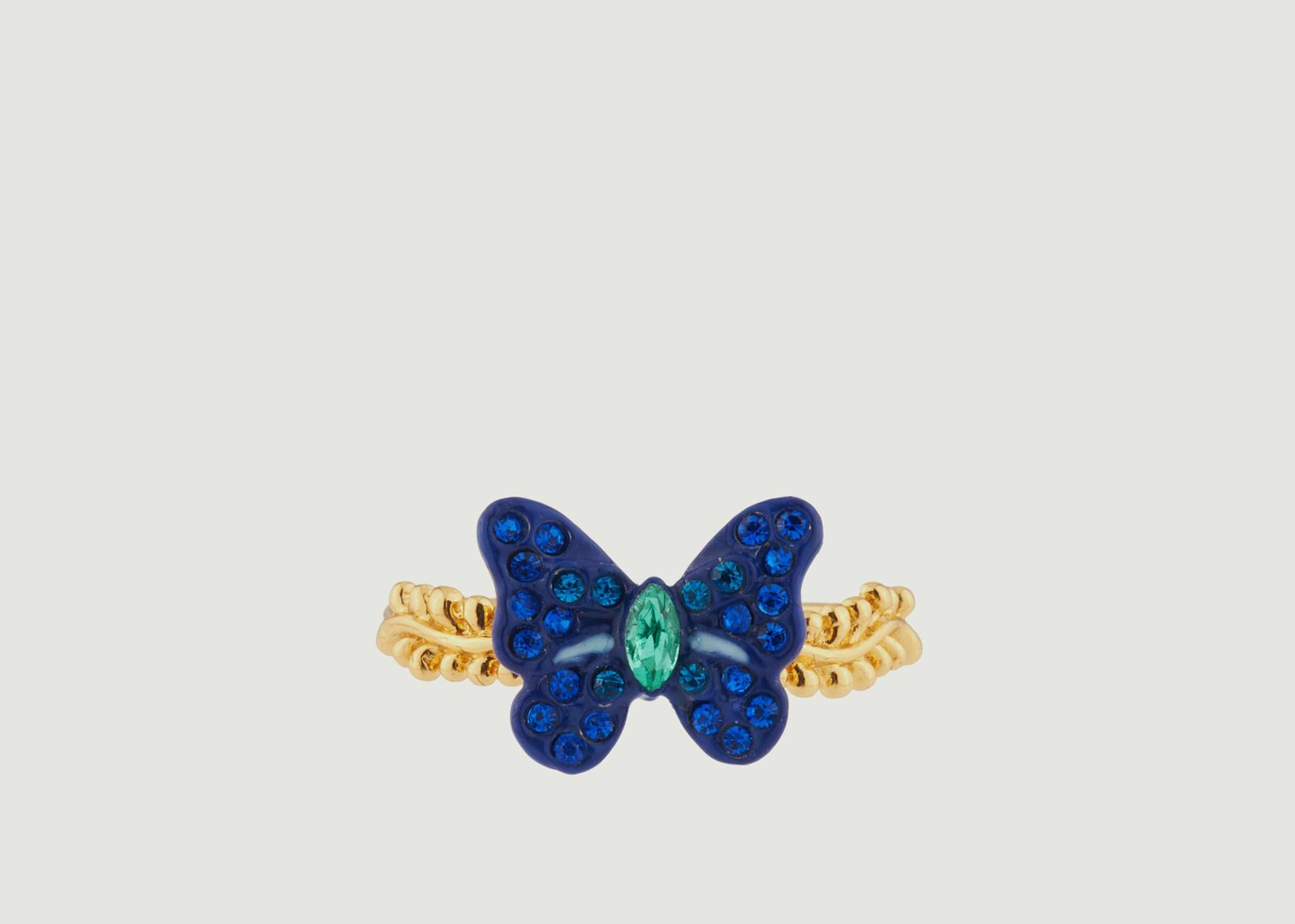 Bague Petit Papillon Avec Pierres Colorées - Les Néréides