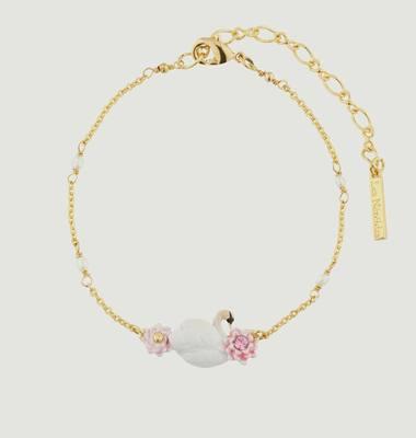 Bracelet Fin Cygne Et Nénuphars