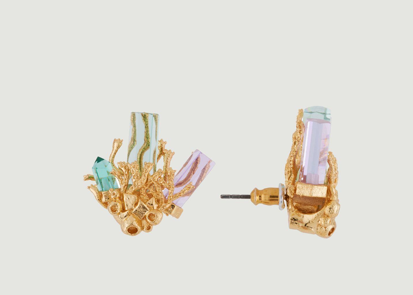 Boucles d'Oreille Veine de Cristal - Les Néréides