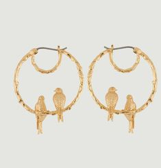 Nature Hoop Earrings