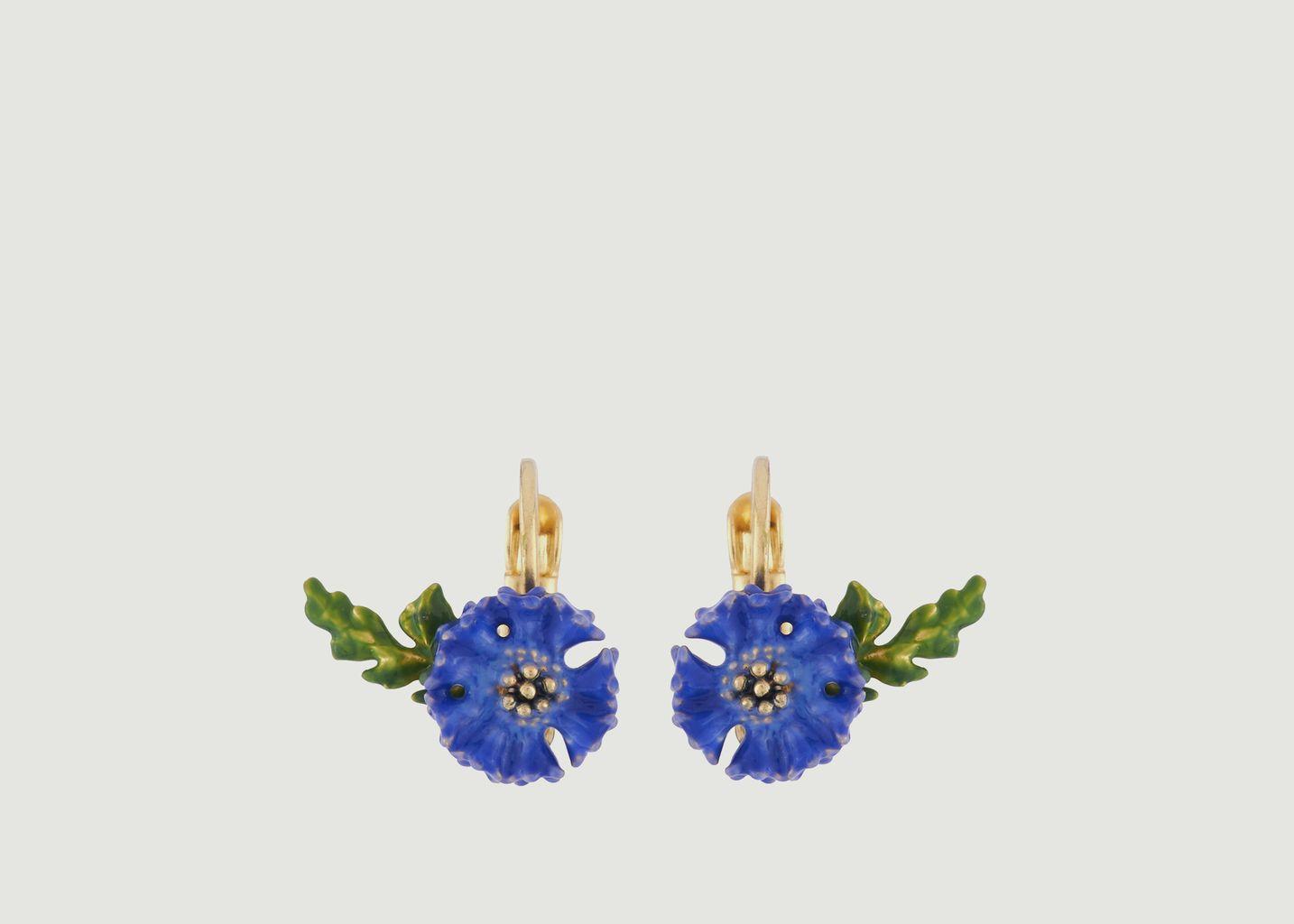 Boucles d'Oreilles Dormeuses Bleuets - Les Néréides