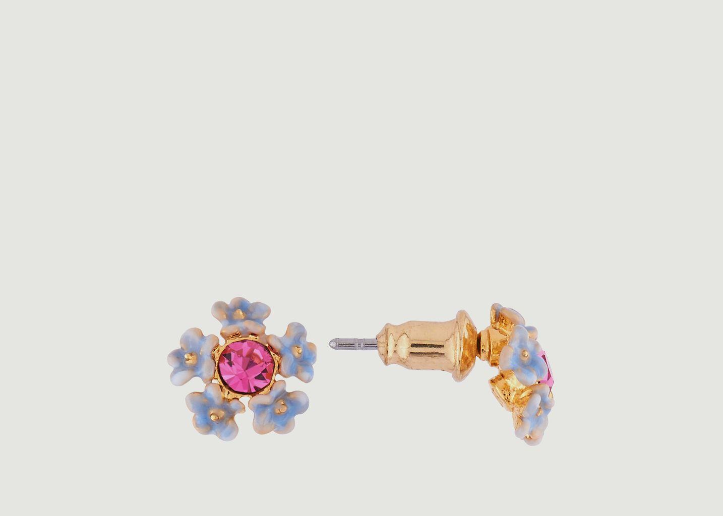 Boucles d'Oreilles Fleur Bleue - Les Néréides