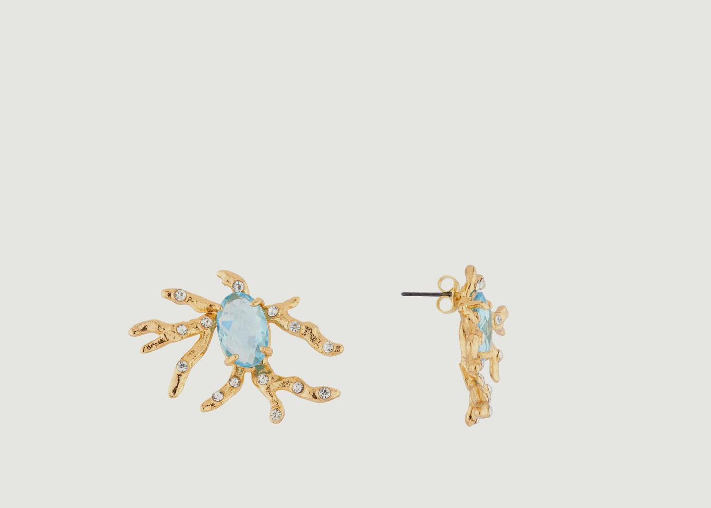 Boucles D'Oreilles Trésor Pierre De Verre Et Cristaux - Les Néréides