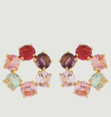 Diamantine Circle Stud Earrings