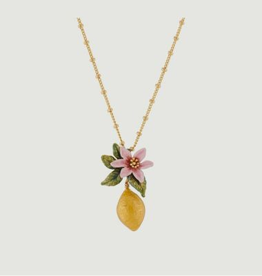 Lemon flower and lemon necklace