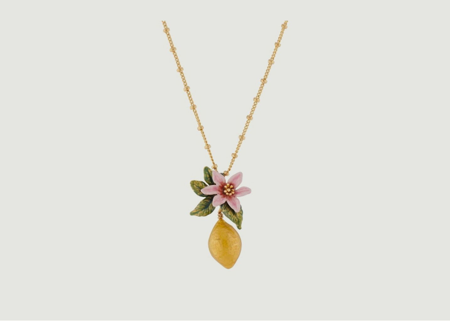 Collier fleur de citronnier et citron - Les Néréides