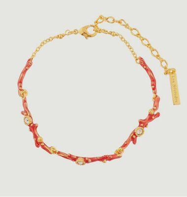 Bracelet fin corail et cristaux