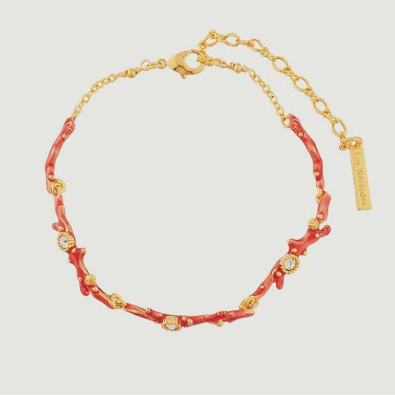 Bracelet fin corail et cristaux - Les Néréides