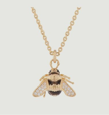 Bumblebee chain and pendant necklace