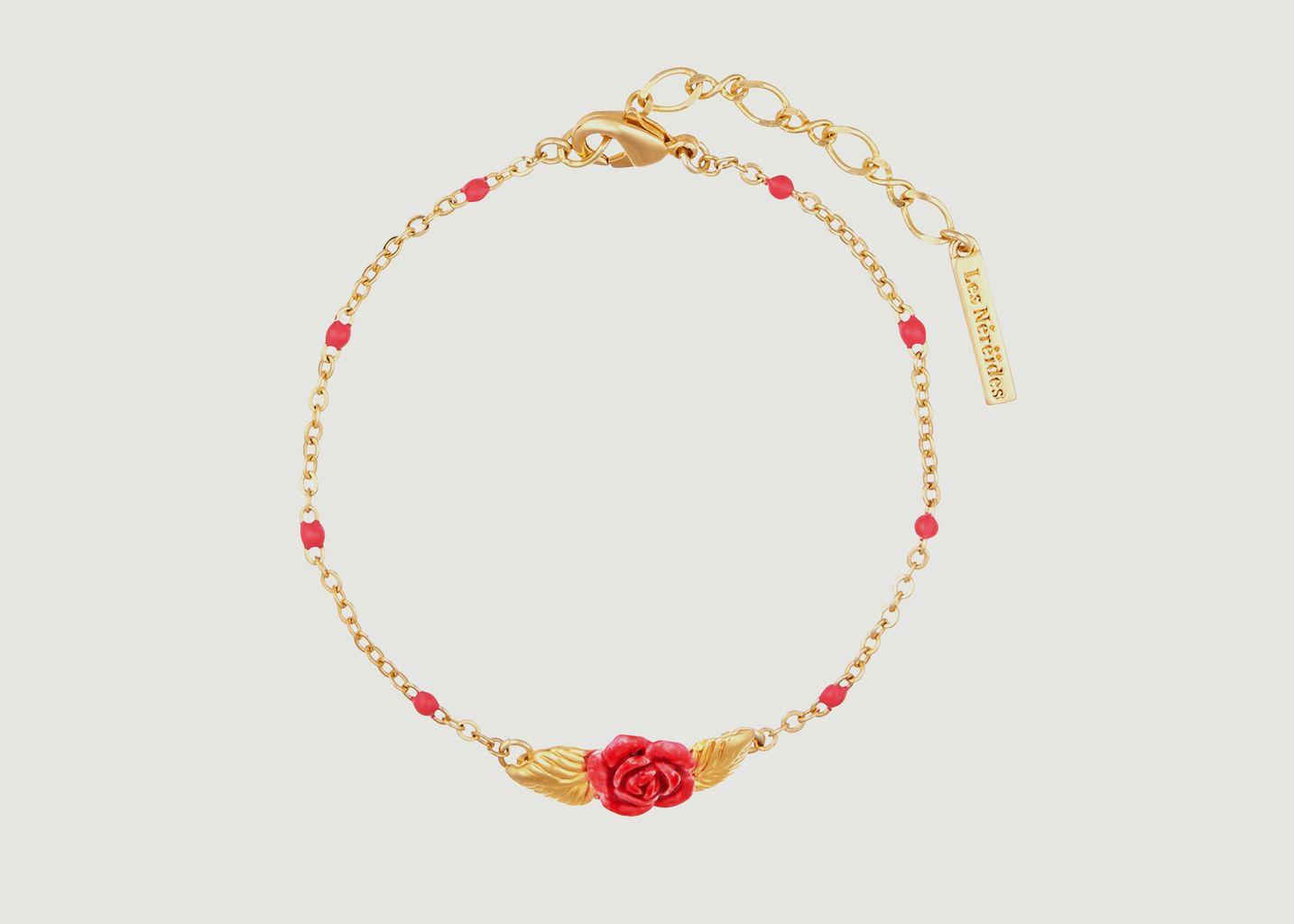 Bracelet fin ajustable bouton de rose - Les Néréides