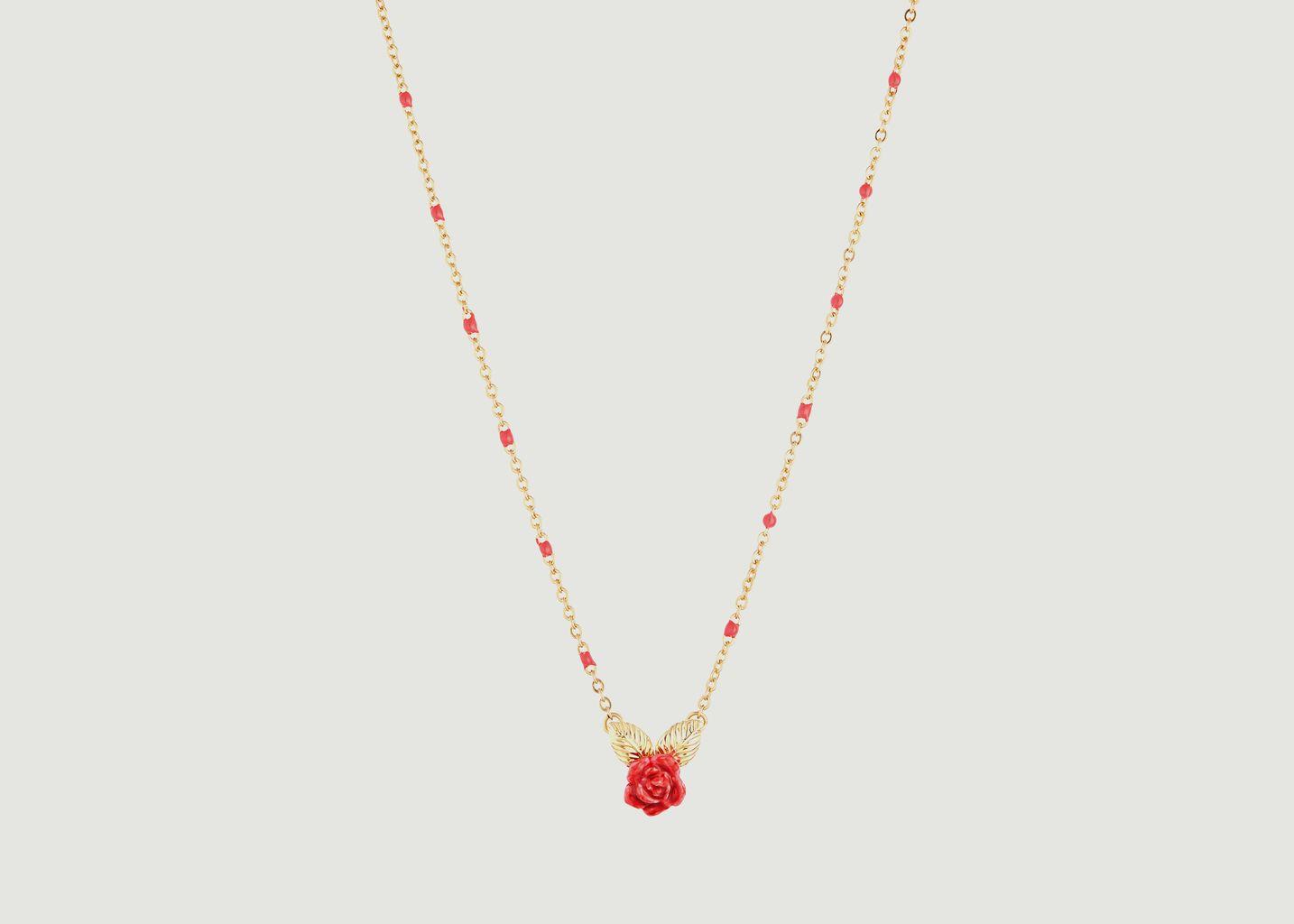 Collier avec pendentif bouton de rose - Les Néréides