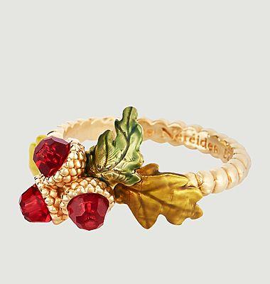 Acorns and oak leaves fine ring