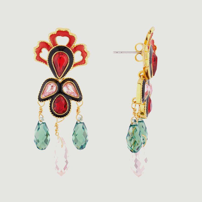 Boucles d'oreilles pendantes tiges Eté Indien - Les Néréides