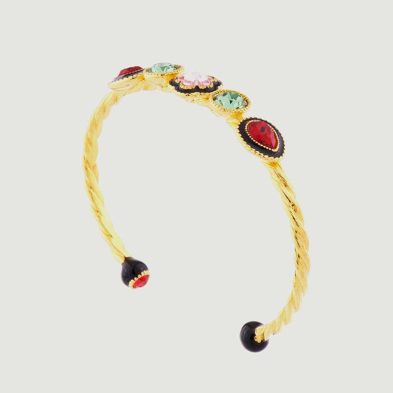 Bracelet jonc fleur indienne - Les Néréides