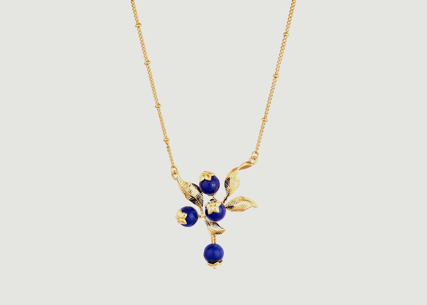 Collier pendentif grappe de myrtilles - Les Néréides