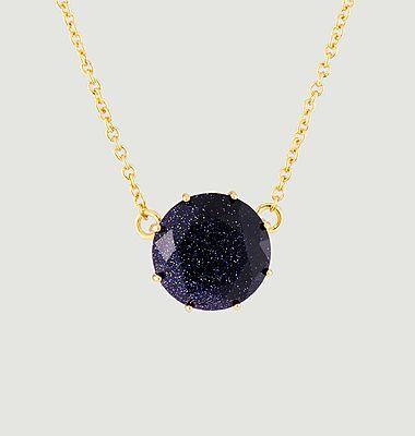 Collier pendentif pierre ronde La Diamantine