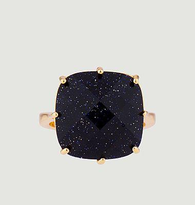 Bague solitaire pierre carrée La Diamantine