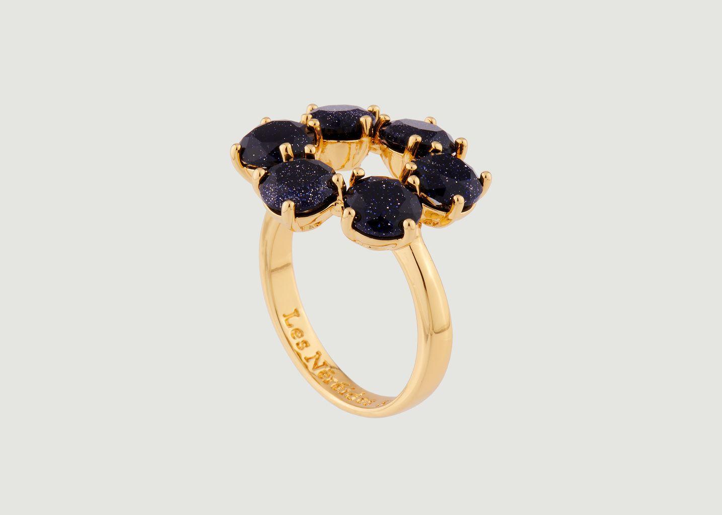 Bague fine 6 pierres La Diamantine - Les Néréides