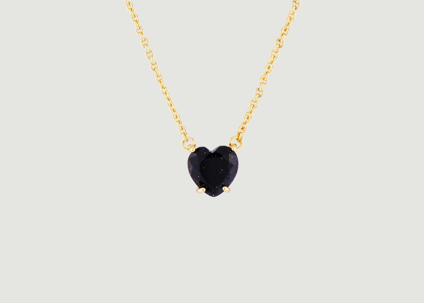 Collier pendentif pierre cœur La Diamantine - Les Néréides