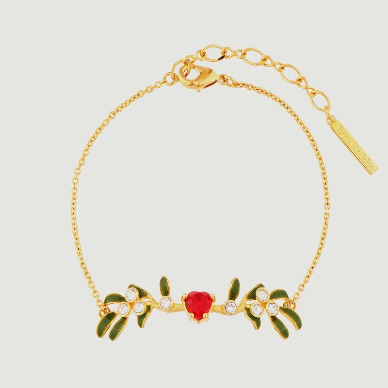 Bracelet fin branche de gui en coeur - Les Néréides