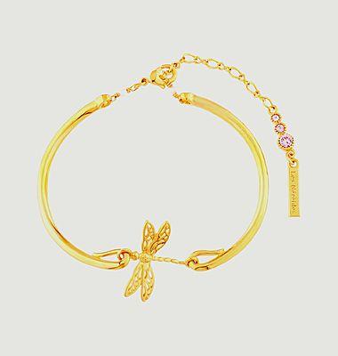 Bracelet jonc ajustable petite libellule