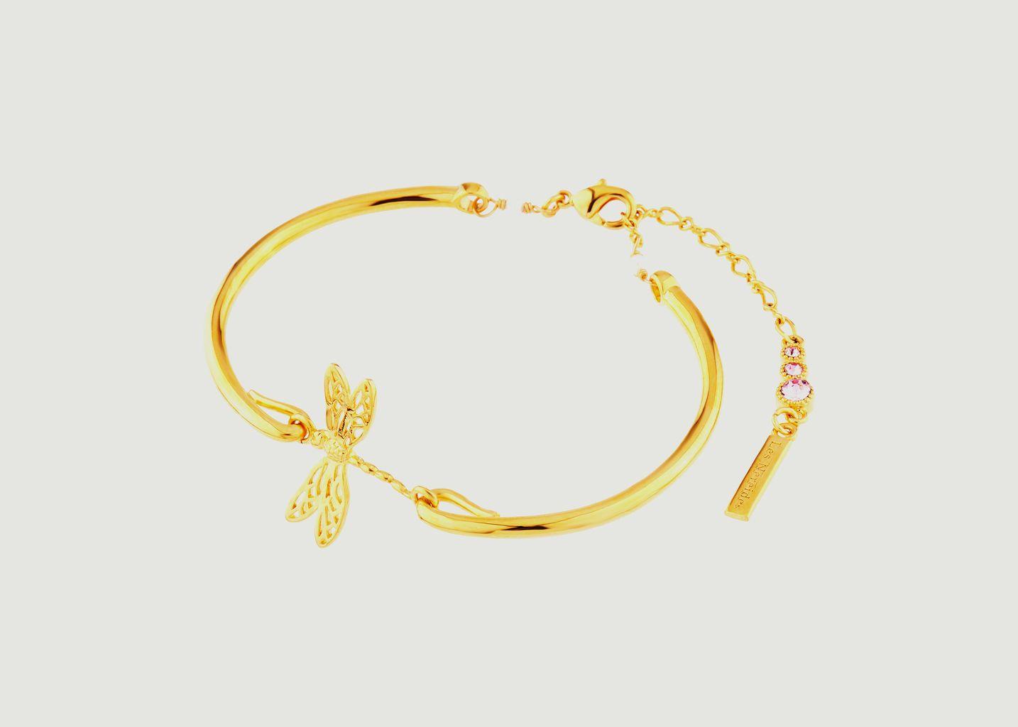 Bracelet jonc ajustable petite libellule - Les Néréides
