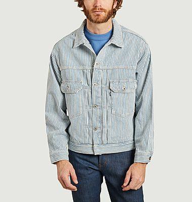 Veste en jean oversize à rayures Type II Trucker