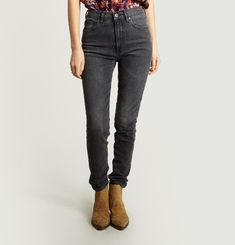 LMC Silver High Skinny Jeans