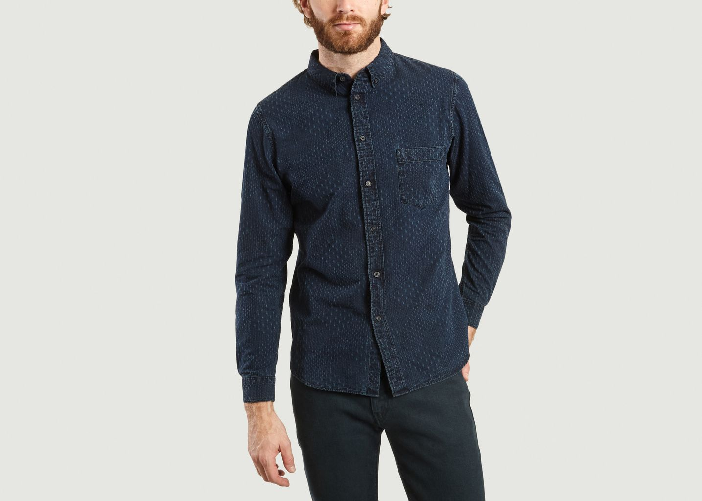 Chemise A Micro Motif Surpiqué - Levi's Made and Crafted