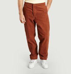 Pantalon Uni En Velours