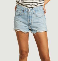 501 Original washed denim shorts