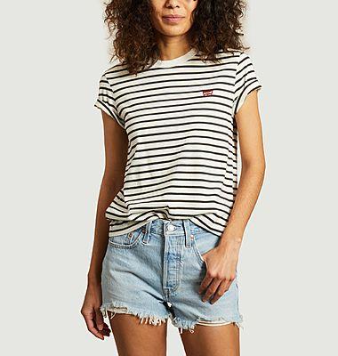 T-shirt rayé siglé