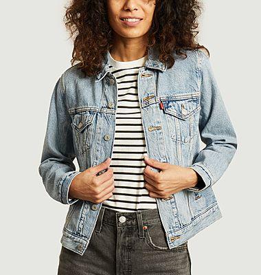 Veste en jean coupe classique