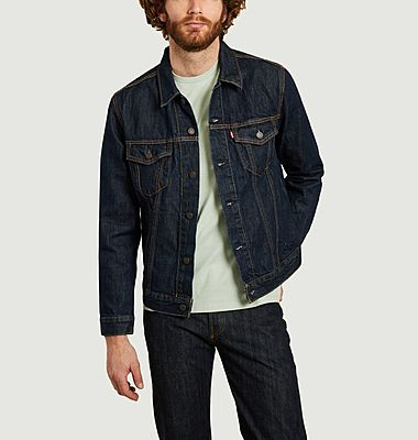 Straight fit raw denim jacket