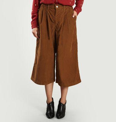 Pantalon Large En Velours