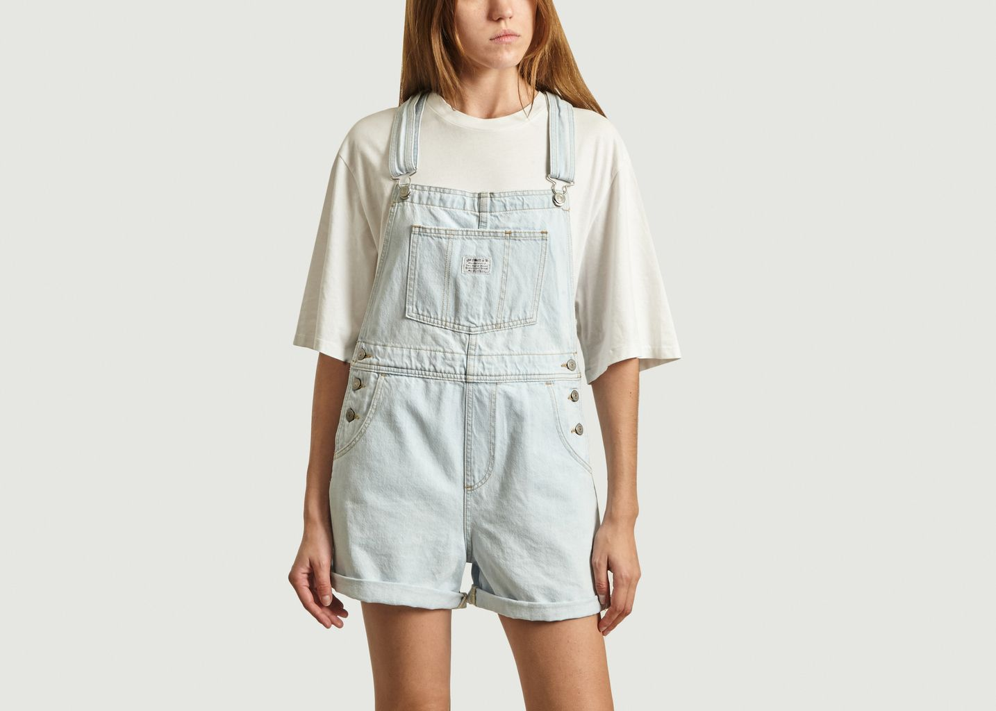 Salopette Courte Vintage En Denim - Levi's Red Tab