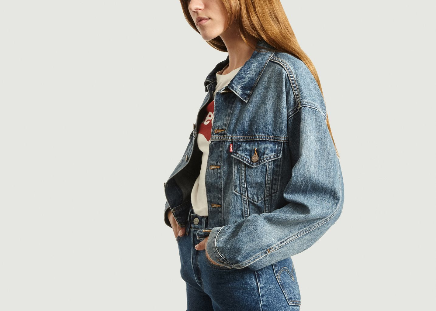 Veste En Jean Crop Dad - Levi's Red Tab